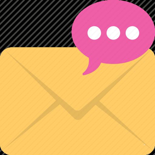 chat bubble, email, envelope, letter, message icon