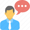 chat bubble, communication, consulting, speak, talk icon