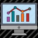 bar graph, graph, graph report, line graph, online graph icon