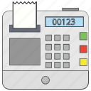 cash register, cash till, invoice machine, point of sale, pos, till supplier icon