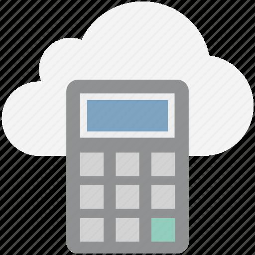 calculator, cloud, computing icon