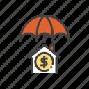 insurance, building, home, parasol, umbrella icon