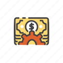 business, cash, currency, management, money, office, seo icon
