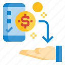 deposits, mobile, money, payment, payout, transfer icon