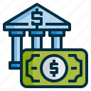 bank, currency, deposits, finance, money icon