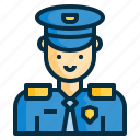 avatar, guard, guardian, police, policeman, security icon