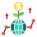 business, cash, finance, growth, money icon