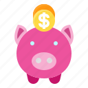 bank, cash, money, pig, piggy, saving