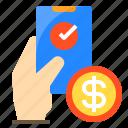 bank, cash, money, online, smartphone