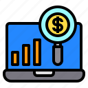 currency, growth, labtop, money