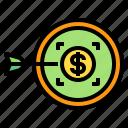 coin, money, target