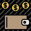 coin, money, wallet