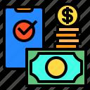 money, smartphone, wallet