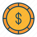 banking, coin, currency, dollar, finance, money