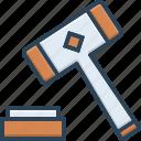 auction, authority, justice, law, legal, verdict, hammer