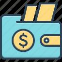 wallet, purse, pouch, money, cash, deposit, finance