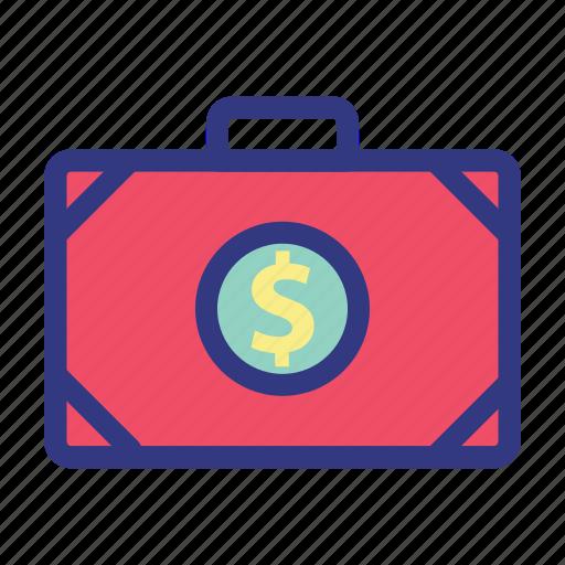 bag, banking, business, dollar, finance, money icon