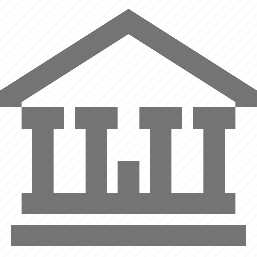 bank, banking, building, finance, material icon