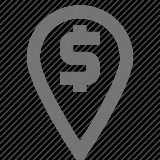bank, gps, location, marker, material, navigation, pin icon