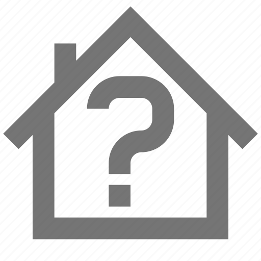 bank, help, home, material, question, support icon