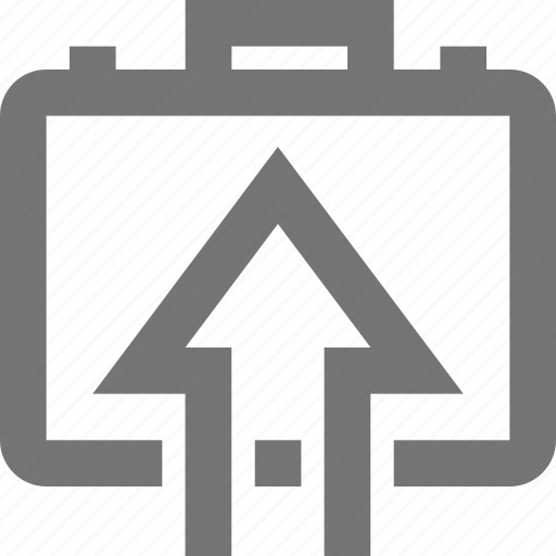 arrow, business, case, company, global, import, material icon
