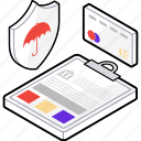 business insurance, credit insurance, insurance document, insurance file, trade insurance icon