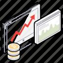 business growth, business statistics, data analytics, online analytics, online graph icon