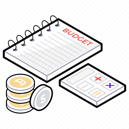 accounting calculation, budget, budget planning, cash accounting, financial calculation icon