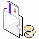 cash wallet, coin wallet, money purse, money wallet, wallet balance icon