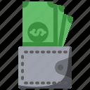 bag, billfold, card, finance, holder, money, notes icon