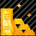 gold, gold bar, ingot icon