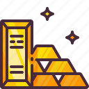 gold, gold bar, gold ingots icon