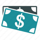 banknotes, cash, currency, dollar, finance, financial, money icon