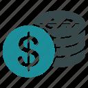 business, cash, coins, dollar, finance, money, payment