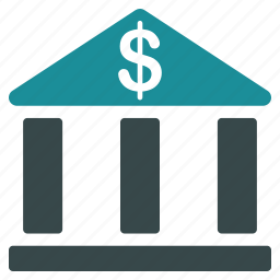 bank, building, business, dollar, finance, financial, money icon