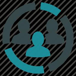 analytics, chart, demography, diagram, people, presentation, report icon
