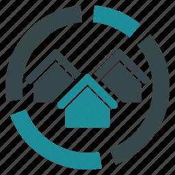chart, diagram, graph, real estate, report, reports, statistics icon