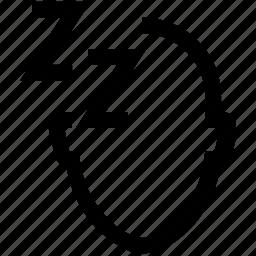 avatar, employee, face, head, sleep icon