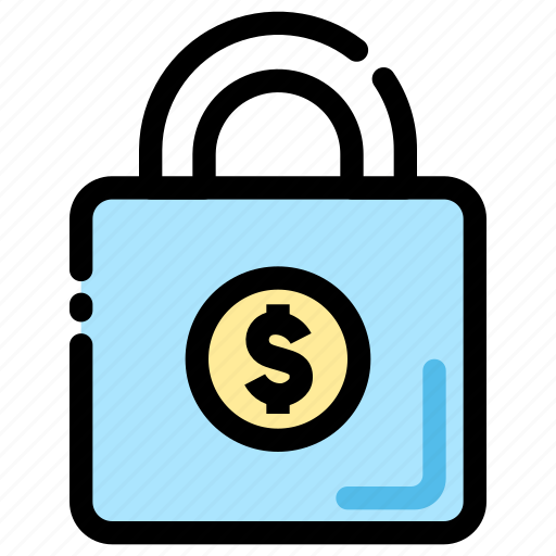 banking, finance, lock, secure, secure payment icon icon