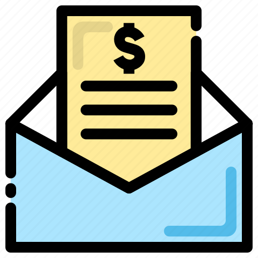 bank statement, banking, finance, invoice, mail, mail box icon icon