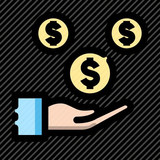 banking, cash, earning, finance, fund, money, transaction icon icon