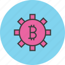 banking, bitcoin, business, finance, options, settings, trade icon