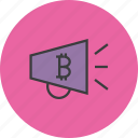 advertisement, bitcoin, campaign, digital, marketing, online, promotion icon