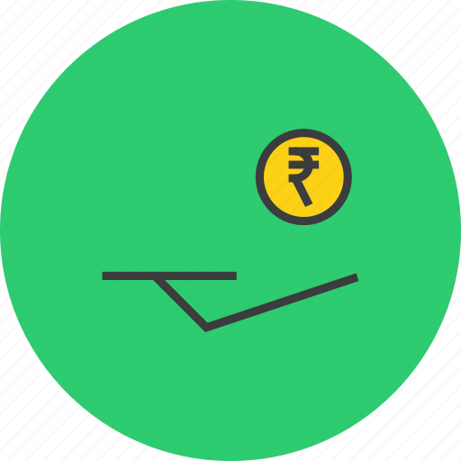 accept, cash, coin, donate, donation, funds, rupee icon