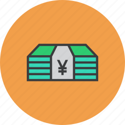 bundle, cash, currency, finance, funds, money, yen icon