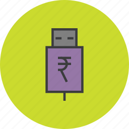 account, banking, interest, recharge, rupee, transfer, usb icon