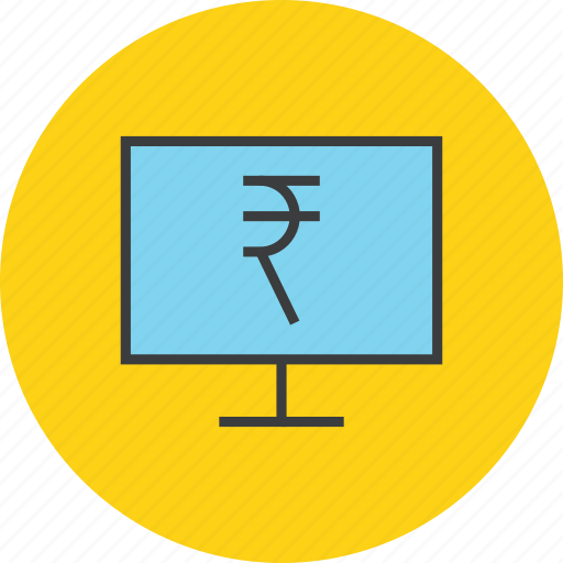 banking, computer, electronic, etrade, online, rupee, shopping icon