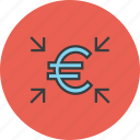 crowdfunding, euro, finance, funds, get, receive, transfer icon