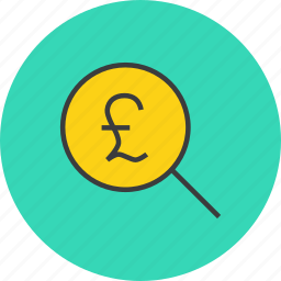 find, funds, identify, locate, pound, search, source icon