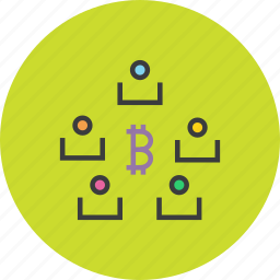 bitcoin, digital, funds, online, share, stakeholders, transaction icon